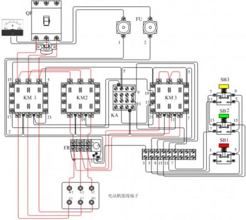 4,热继电器fr作为电动机的过载保护,热继电器fr的热元件接在三角