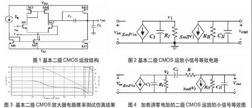 cmos两级运算放大器调零电路性能分析