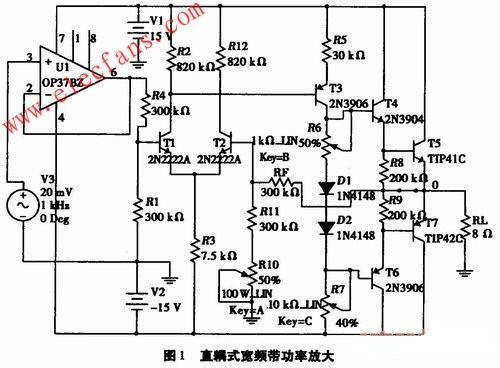 电路中的一个综合性设计课题,它涉及信号耦合方式,电压放大,功率放大