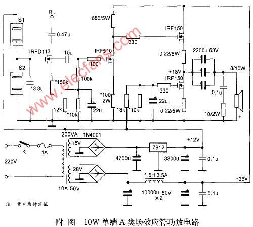 应管特性及单端甲类功放电路原理