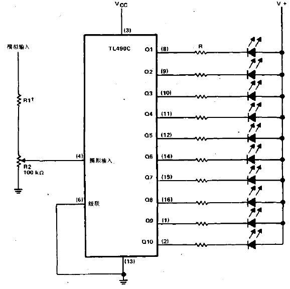 10级电平指示器电路图