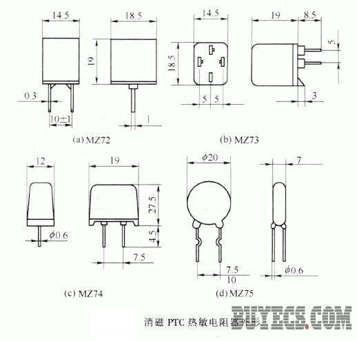 正文     消磁ptc热敏电阻器适用于彩色电视机消磁电路.