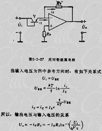 就构成了反对数运算放大器,电原理电路如图5.